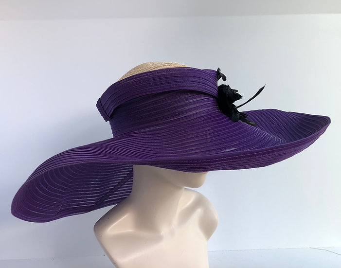 Social Distancer Ursula (purple/straw)