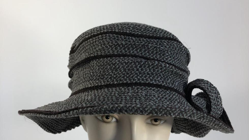 Pinched Crown  (grey/brown tweed)