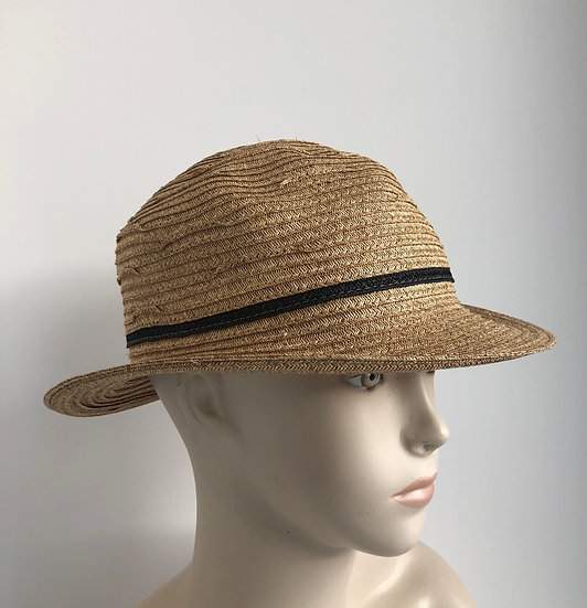 Fedora, sort of   (wheat with black)