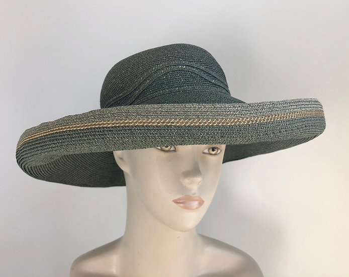 Lily Bart  (wide olive with not twist,  tan/gray edging)