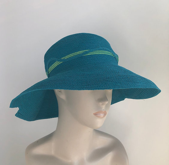 Georgiana (turquoise w/ lime and waves)