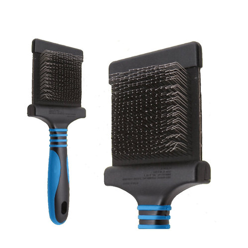 Pro Firm Flexible Slicker Brush (Blue - Doodle)