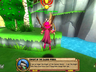 Wizard 101 wins with the Python jokes