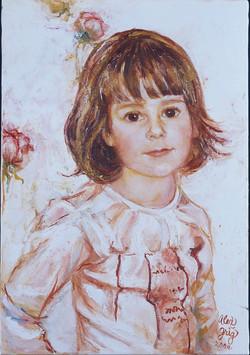 Petite Fille à la Rose
