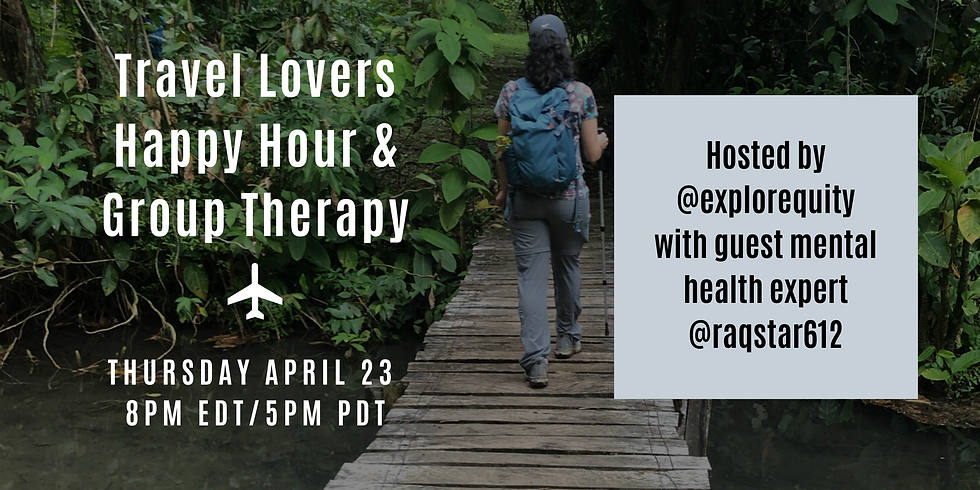 Travel Lovers Happy Hour & Group Therapy