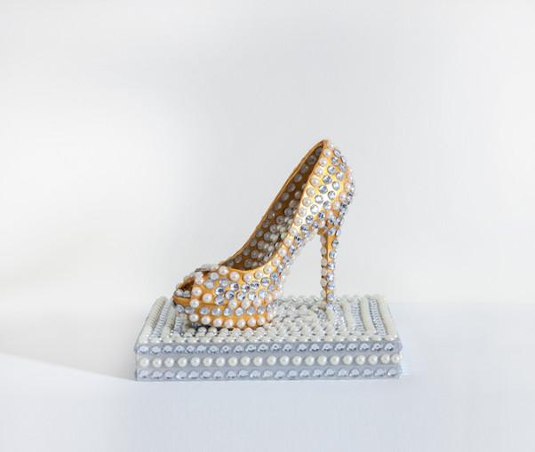ms cinderella heel 21x28cm plastic-glass on wood.jpg