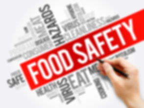 Food Safety word cloud collage, concept
