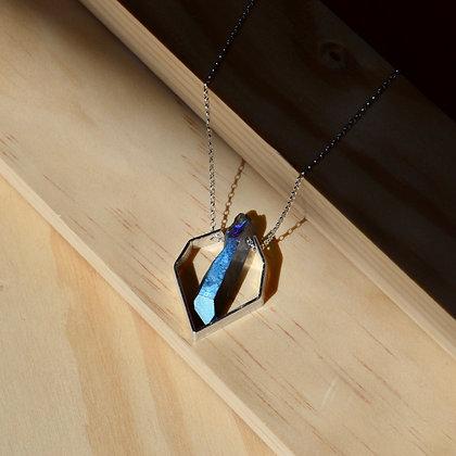 Titanium Quartz Matte Angles Necklace