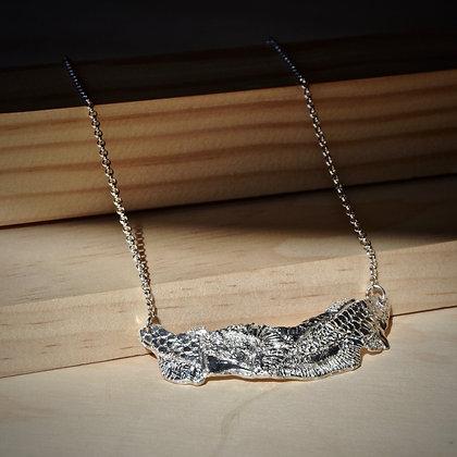 Fusion Texture Bar Necklace
