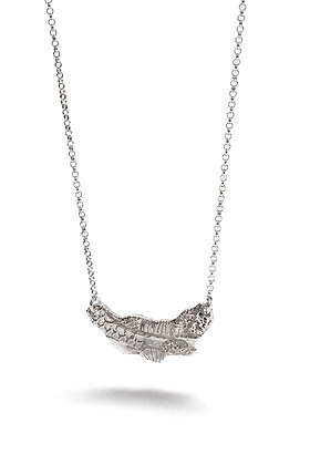 Fusion Texture Small Bar Necklace
