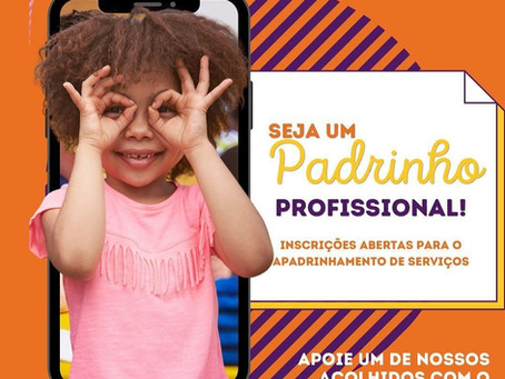 Programa de Apadrinhamento está em busca de profissionais voluntários para atender crianças e adoles