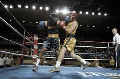 Boxeadores en el anillo