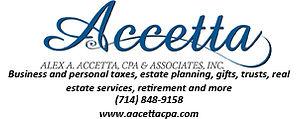 Alex A. Accetta, CPA & Associates ad for web