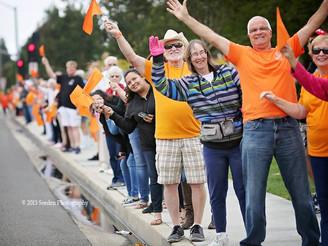 Thursdayis 'Turn FV Orange Day' at concert in the park