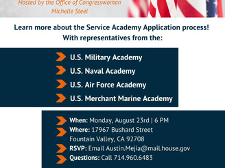 Service Academy info night is Aug. 23 in FV