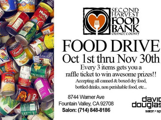 David Douglas Salon & Spa canned food drive underway
