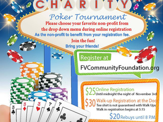 Charity poker tournament is Nov. 4