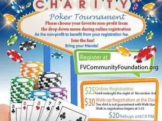 Charity poker tournament isNov. 4