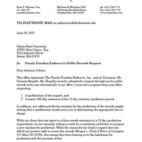 Salem State Correspondence