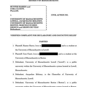 University of Massachusetts Lawsuit– Complaint