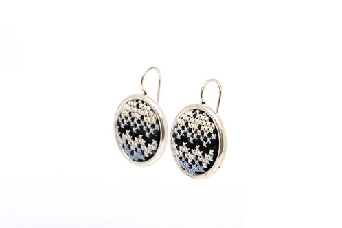 Statement Earring Silver-Plated Nuusum (Black)