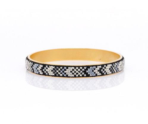 Slim Bangle Gold-Plated Nuusum (Black)