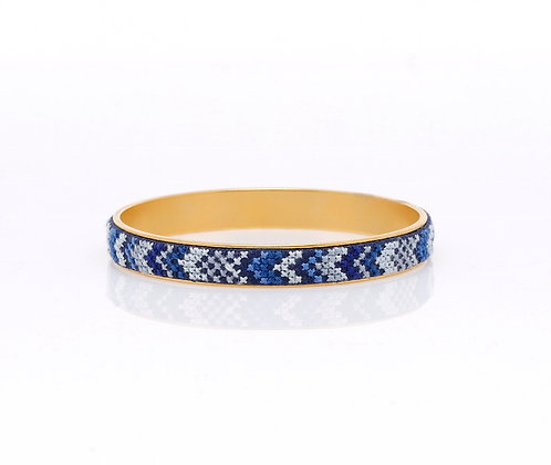 Slim Bangle Gold-Plated Nuusum (Blue)