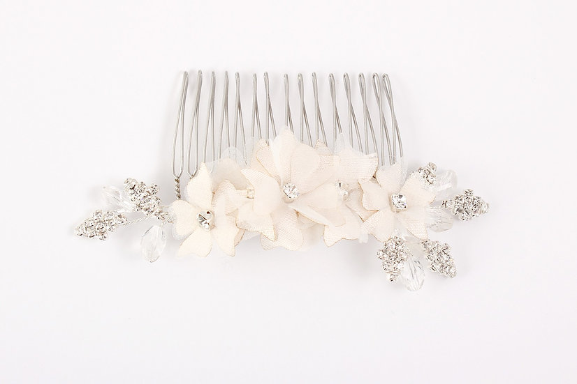 Claire Silver/Ivory - Haircomb