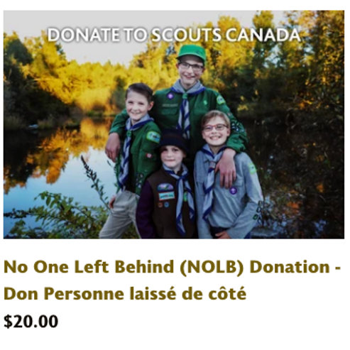No One Left Behind Donation