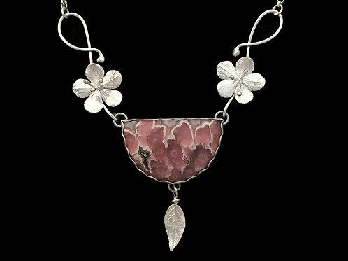Cherry Blossom & Rhodochrosite Garland Necklace #2