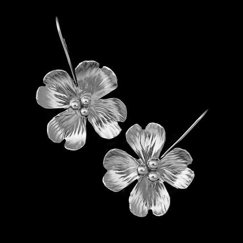 Dogwood Blossom Earrings~Shiny