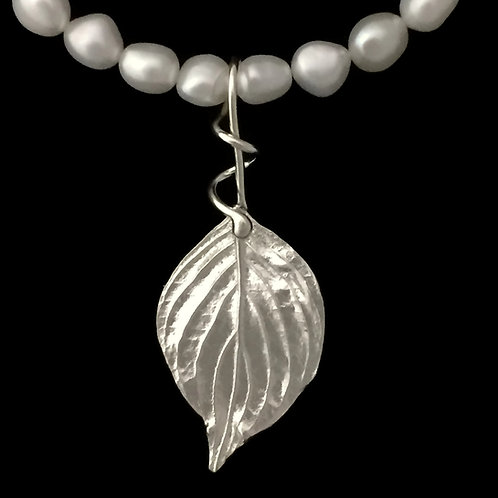 Dogwood Leaf Pendant~Vining Bail