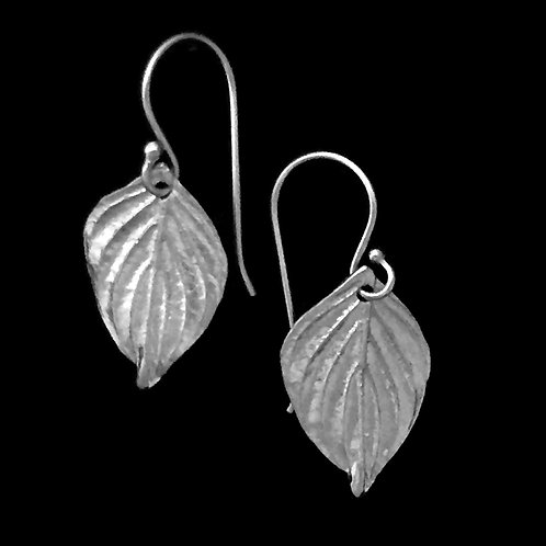 Dogwood Leaf Earrings~Small
