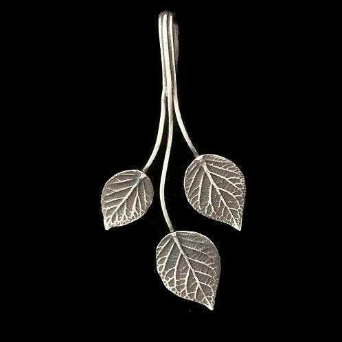 Trio of Hydrangeas Pendant/Enhancer~Patina
