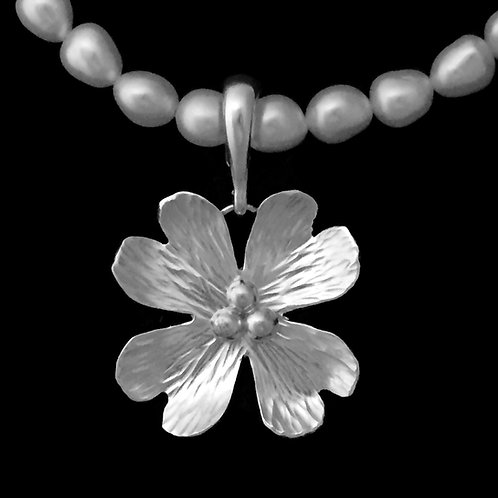 Medium Dogwood Blossom Pendant~Shiny