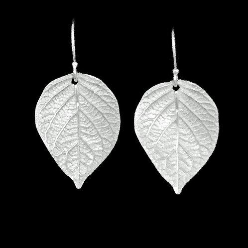 Hydrangea Leaves Earrings Large~Shiny