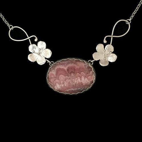 Cherry Blossom & Rhodochrosite Garland Necklace