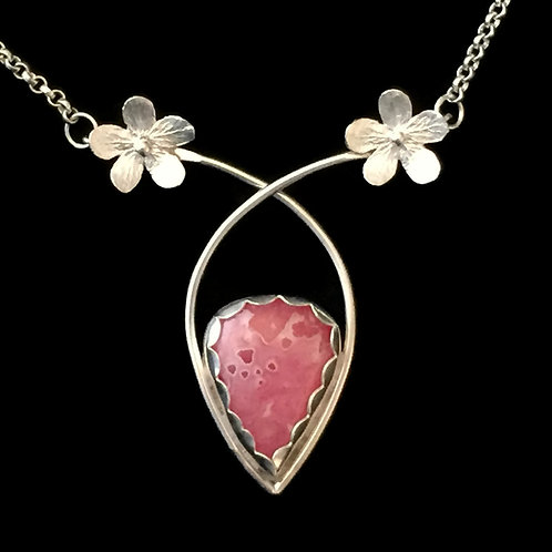 """Cherry Blossom & Rhodochrosite Necklace~""""Arched Branches"""""""