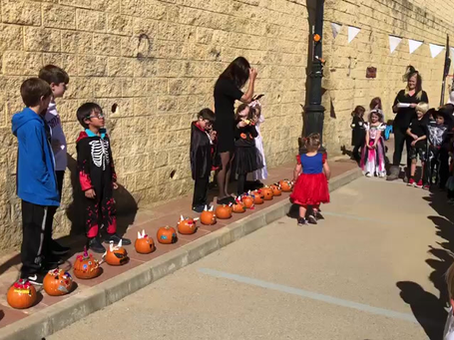 The winners of the Pumpkin Competition collecting their prizes. #cameronschool #pumpkincompetition