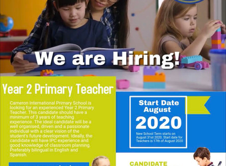 WE ARE HIRING!!!!! YEAR 2 PRIMARY TEACHER NEEDED