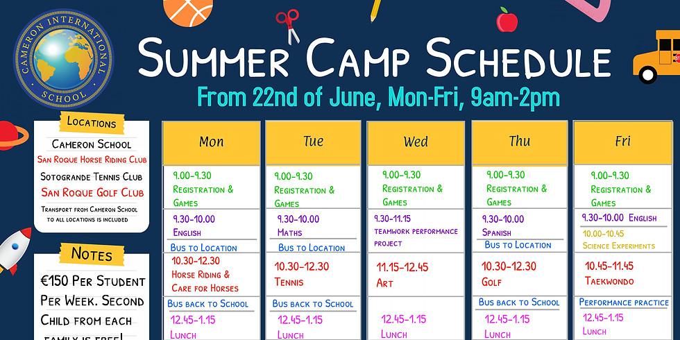 Cameron International Summer Camp