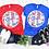 Thumbnail: Tie-Dye Patriotic Monogram Bleached Unisex Adult Tee