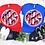 Thumbnail: Glitter Patriotic Monogram Bleached Unisex Adult Tee