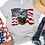 Thumbnail: Bald Eagle Flag USA Patriotic Unisex Adult Tee