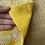 Thumbnail: ミラー刺繍ミモザ柄ミニトート