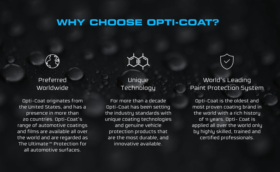 Why Choose Opti-Coat Ceramic Coating