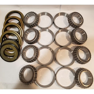 5 TON 2 AXLE STEER AND REAR HUB KIT WITH 4 INNER SEALS AND 2 OUTER SEALS