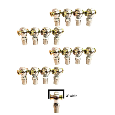 """Full Set of 1.25"""" Heims w/ High Misalignment Spacers"""