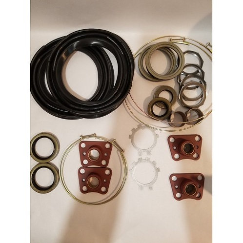 2.5 TON FRONT AXLE OVERHAUL KIT WITH BLACK BOOTS M35 M35A1 M35A2 MILITARY