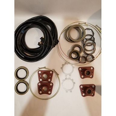 2.5 TON FRONT AXLE OVERHAUL KIT WITH ZIPPER BOOTS M35 M35A1 M35A2 MILITARY